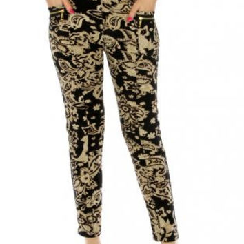Paisley Ankle Pants - More Colors Available