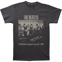 Beatles Men's  Cavern Club T-shirt Grey Rockabilia