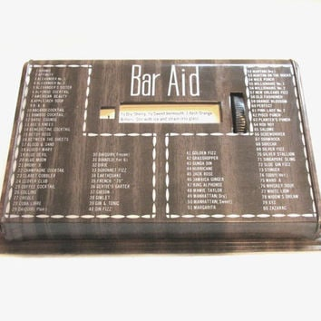 Vintage Bar Aid, Drink / Beverage Recipe Box, Retro Barware