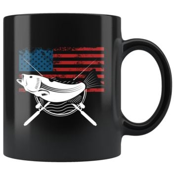 American Fishing 11oz Black Mug