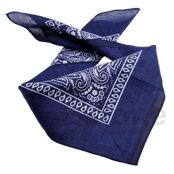 Free Shipping Paisley Bandana HeadWrap Hair wrap Double Side Print 1 pc Cotton Scarf Headband