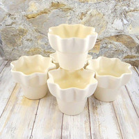 Mid Century Modern Atomic Hull Imperial Pottery Planters, Set of Five