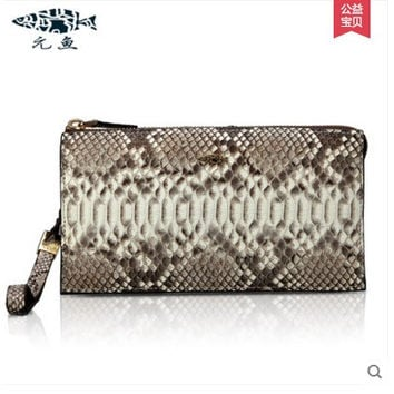yuanyuqijiandian real Python leather women clutch women hand caught bag python leather bags long snake women day clutches