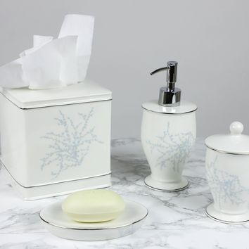 Maison de Luxe - Blue Bath Accessories