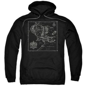 The Lord Of The Rings Map Of Me Licensed Adult Hoodie
