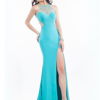 Sheer Back With High Slit Prom Dress By Rachel Allan 6984