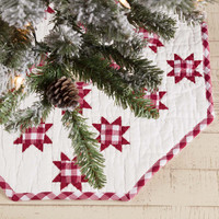 Emmie Patchwork Mini Tree Skirt - Red