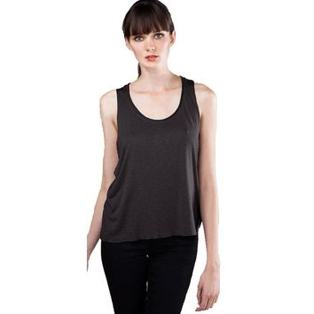 Yoga Clothing for You Womens Raw Edge Slub Yoga Tank Top