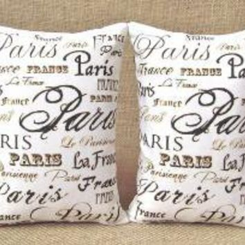 Paris France Bookends Shelf Pillows by TwoStrayCats on Etsy
