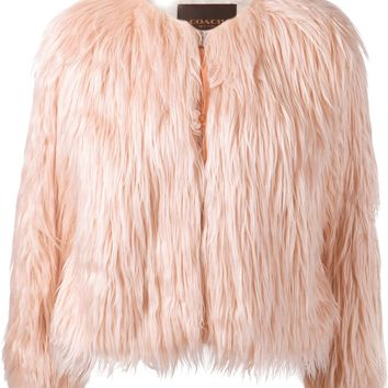 Coach Cropped Faux Fur Jacket - - Farfetch.com