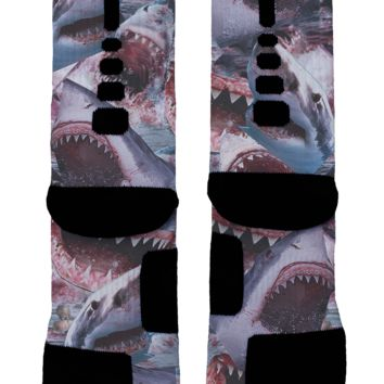 Shark Attack Custom Nike Elites