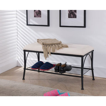 K&B SB-12 Storage Bench | Overstock.com Shopping - The Best Deals on Benches