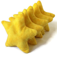 Star Shape Bean Bags Bright Yellow Flannel (set of 5) Toss Game Child's Toy Party Favor - US Shipping Included