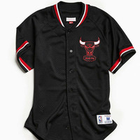 Mitchell & Ness Chicago Bulls Mesh Button Front Jersey | Urban Outfitters