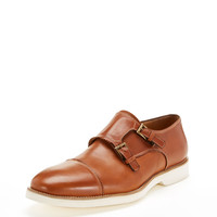 Leather Double Monkstrap Shoe