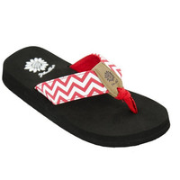 Yellow Box Girl's Yulisa2 Red Flip Flops