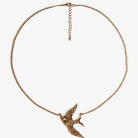 Etched Bird Charm Necklace | FOREVER 21 - 1028038664
