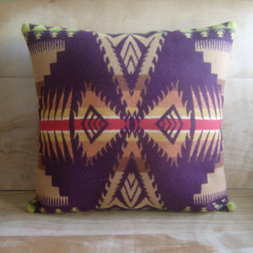 Pendleton Wool Pillow 16x16 by RobinCottage on Etsy