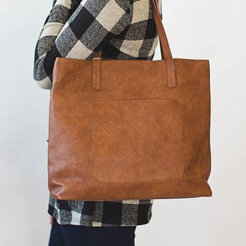 Megan Carry All Tote - Saddle