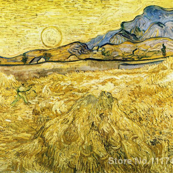 art Oil paintings The Reaper Vincent Van Gogh reproduction Handmade High quality