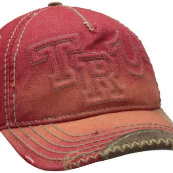 True Religion Men's Raised Logo Cap, Red, One Size