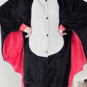 New 2015 Bat Cosplay Costume Animal Suits Onesuit Pyjamas Pajamas Sleepwear Party Dress One Piece = 1958266244