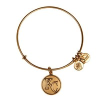 Alex and Ani Kansas City Royals™ Cap Logo Charm Bangle - Russian Gold