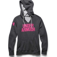 Under Armour Branded Fleece Wordmark Hoodie for Women 1264719-090