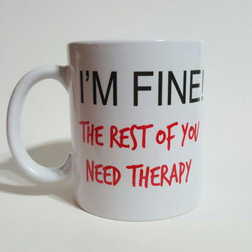 office mugs funny. the rest of you need therapy funny coffee mug gift office mugs y