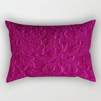 satiny flower in fushia Rectangular Pillow by clemm