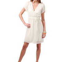Beyond Vintage Swiss Dot Tulip Sleeve Dress in Ivory for sale online from Carolina Boutique in Mill Valley