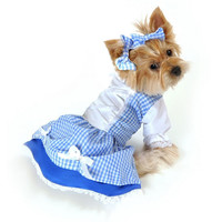 Wizard of Oz Dorothy Girl Dress Dog Costume