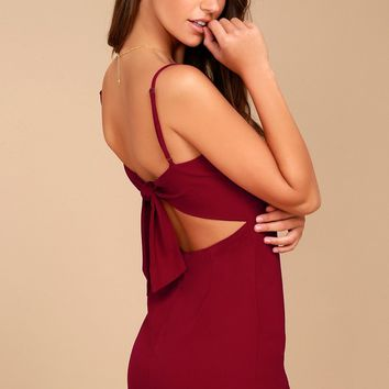 Toast to Life Red Mini Dress