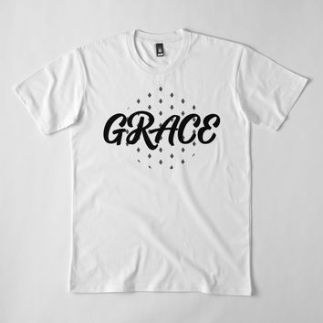 """Grace Christianity Bible Verse Urban Christianity"" Men's Premium T-Shirt by Dreambigdigital 