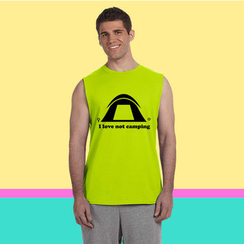 I love not camping Sleeveless T-shirt