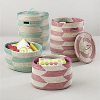 The Land of Nod: Kids Storage: Snake Charmer Storage Baskets in Storage Collections