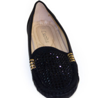 Rhinestone Embellished Loafers