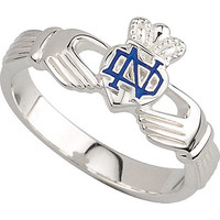 Women's Blue Notre Dame Claddagh Ring
