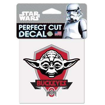 Licensed NCAA Star Wars Yoda Die Cut Car Decal Wincraft KO_19_1