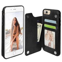LANCASE Case For iPhone 6s Case Luxury Leather Flip Card Slot Holder Back Cover For iPhone 6 6s Plus Case Wallet Phone Cases Bag