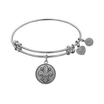Angelica Ladies Inspirational Collection Bangle Charm 7.25 Inches (Adjustable)