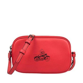 COACH MICKEY Crossbody Pouch in Glove Calf Leather  COACH bag