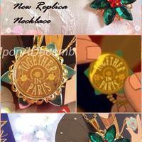 NEW Anastasia Charm Necklace Together In Paris Replica Flower Emerald Ruby Romanov Replica Handmade
