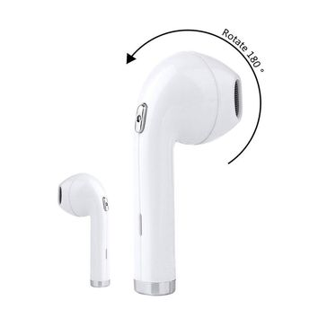 Mini Wireless Earphone In-Ear Bluetooth Headset 180 degrees rotated Earbuds