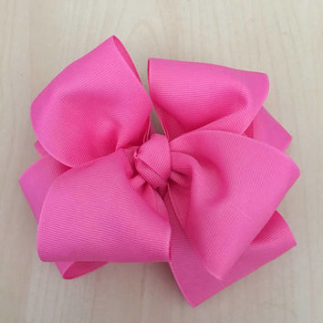 "Ashtyn Baby bow, Double stacked bows, Boutique hair bows, Infant bow, Hair bows for girls, Large hair bows, 4"" double hairbow"
