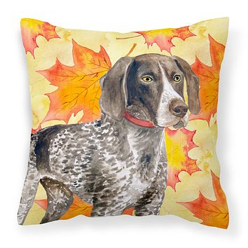German Shorthaired Pointer Fall Fabric Decorative Pillow BB9902PW1818