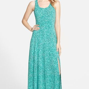 Women's MICHAEL Michael Kors 'Rain' Print Jersey Maxi Dress,