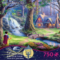 Thomas Kinkade Disney Dreams Collection - Snow White Discovers the Cottage Puzzle