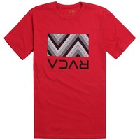 RVCA Pattern Box T-Shirt - Mens Tee - Red -