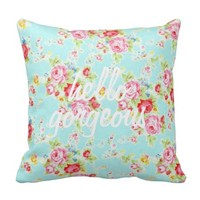 Hello gorgeous vintage shabby floral pattern chic pillows